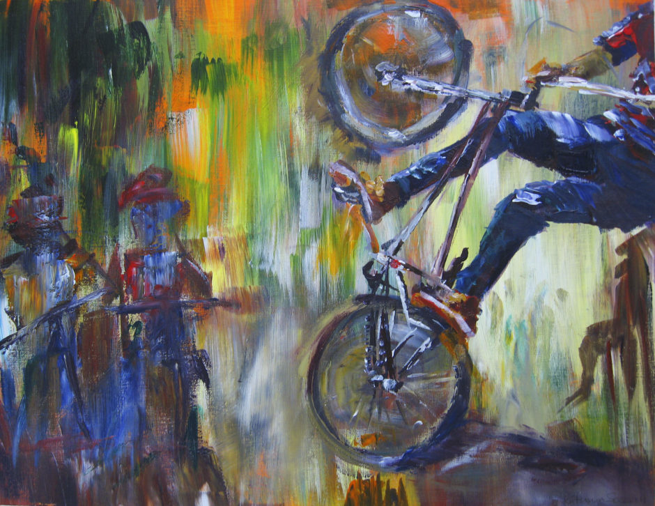 Stunt Tidy I Cycling painting