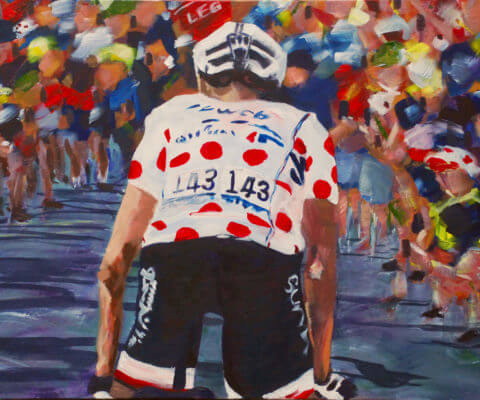 Barguil KOM painting by kathryn sassall