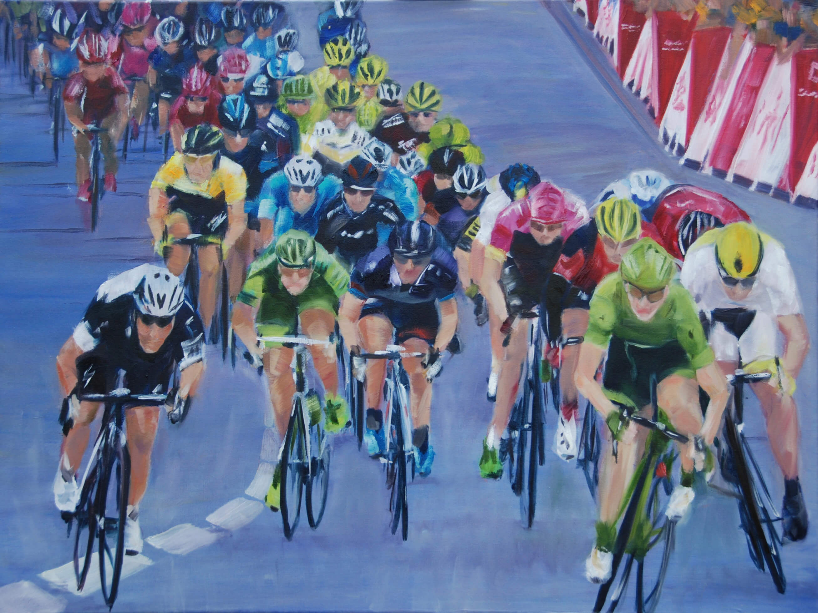 painting of sprint tour de france greipel